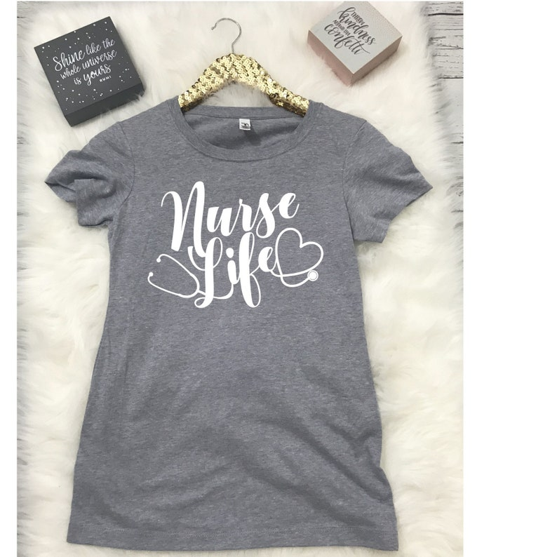Nurse Life Graphic Tee Women's Tee Gift for Her Graphic image 0