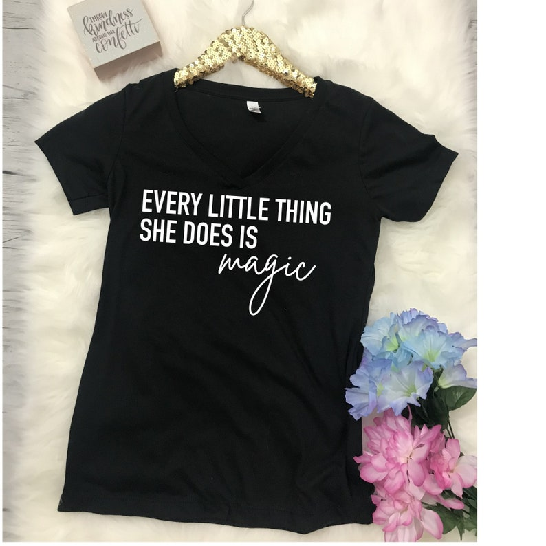 Every Little Thing She Does Is Magic Graphic Tee Women's image 0