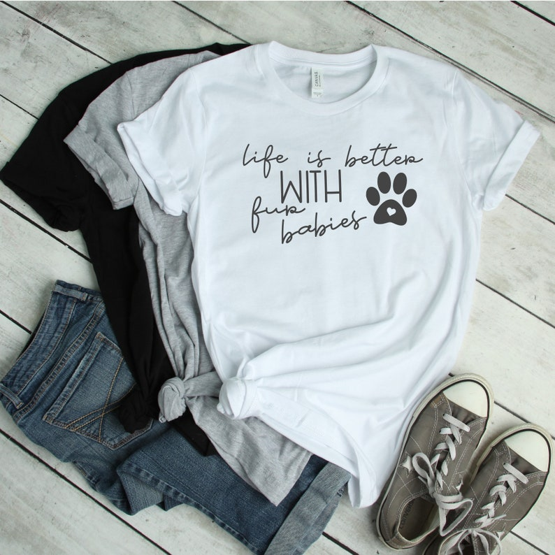Life Is Better With Fur Babies Graphic Tee Women's Tee image 0