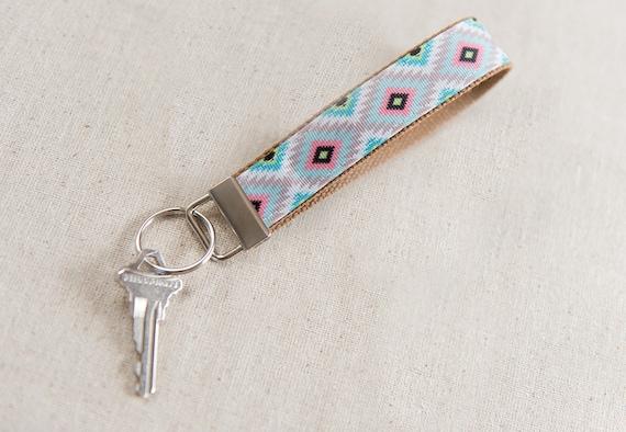 Aztec Tribal Key Fob Key Fob Keychain Fabric Key Fob  29474c586