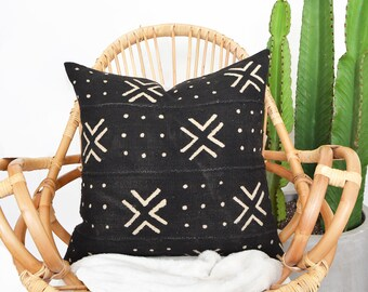 Africa Mudcloth Pillow, Mudcloth Pillow Cover, African Pillow, Throw Pillow, Lumbar Pillow, Mud Cloth Pillow, Africa Pillow, Boho Pillow