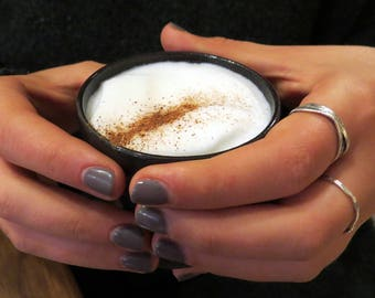 Ceramic espresso cup Set, unique coffee mug, Modern Espresso Cups, Housewarming gift
