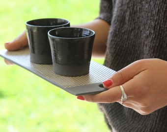 Black Ceramic Espresso Cup set,  Gift for coffee lovers