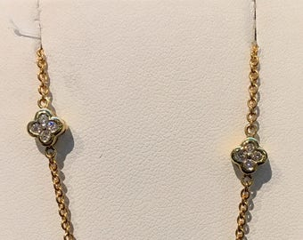 Vintage Floret Diamond Necklace VPL-11