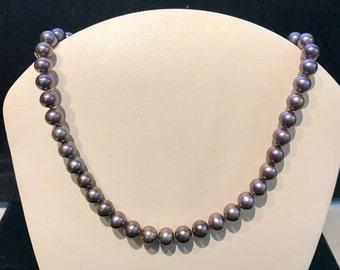 Vintage Purple Freshwater Pearl Necklace N-FWP-34