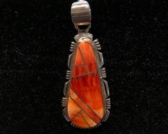 Vintage Orange Coral Pendant VP-39