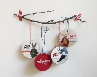 Palle di Natale in cartone