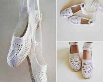 PDF Espadrilles pattern, crochet shoes pattern, crochet sandals pattern, women shoes pattern, summer shoes pattern