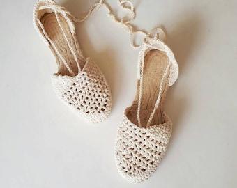 67d041615 Crochet espadrilles