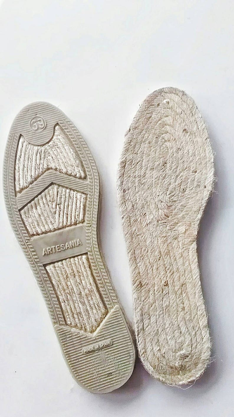 c347f86cc440f Espadrille soles made of jute with left and right foot shape