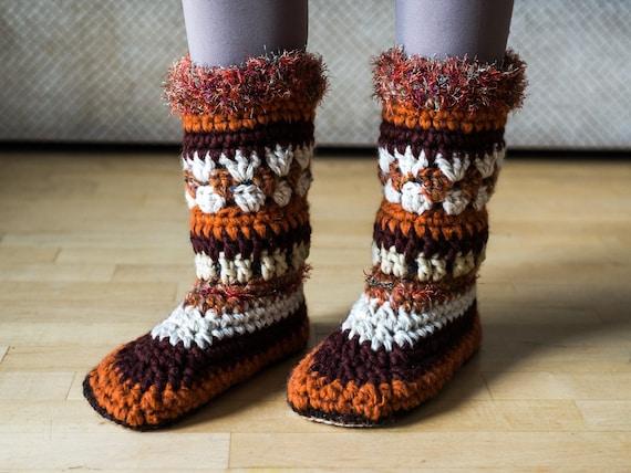 PDF PATTERN Women slipper boots women moccasin pattern   Etsy