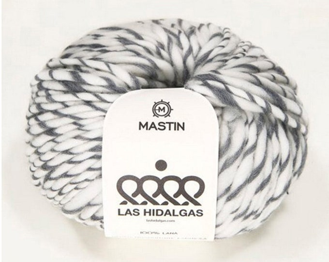 Lana merino bicolor Mastín Las Hidalgas: colores ceniza, caramelo, castaño y carbón. Lana virgen española.