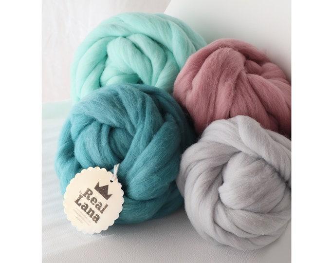 Kit de 4 colores de lana XXL para manualidades