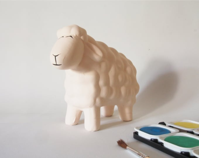Ceramic sheep for handicrafts. Special gift for knitter. Weaver's Gift. It paints sheep colors. Sheep gift. Few units!