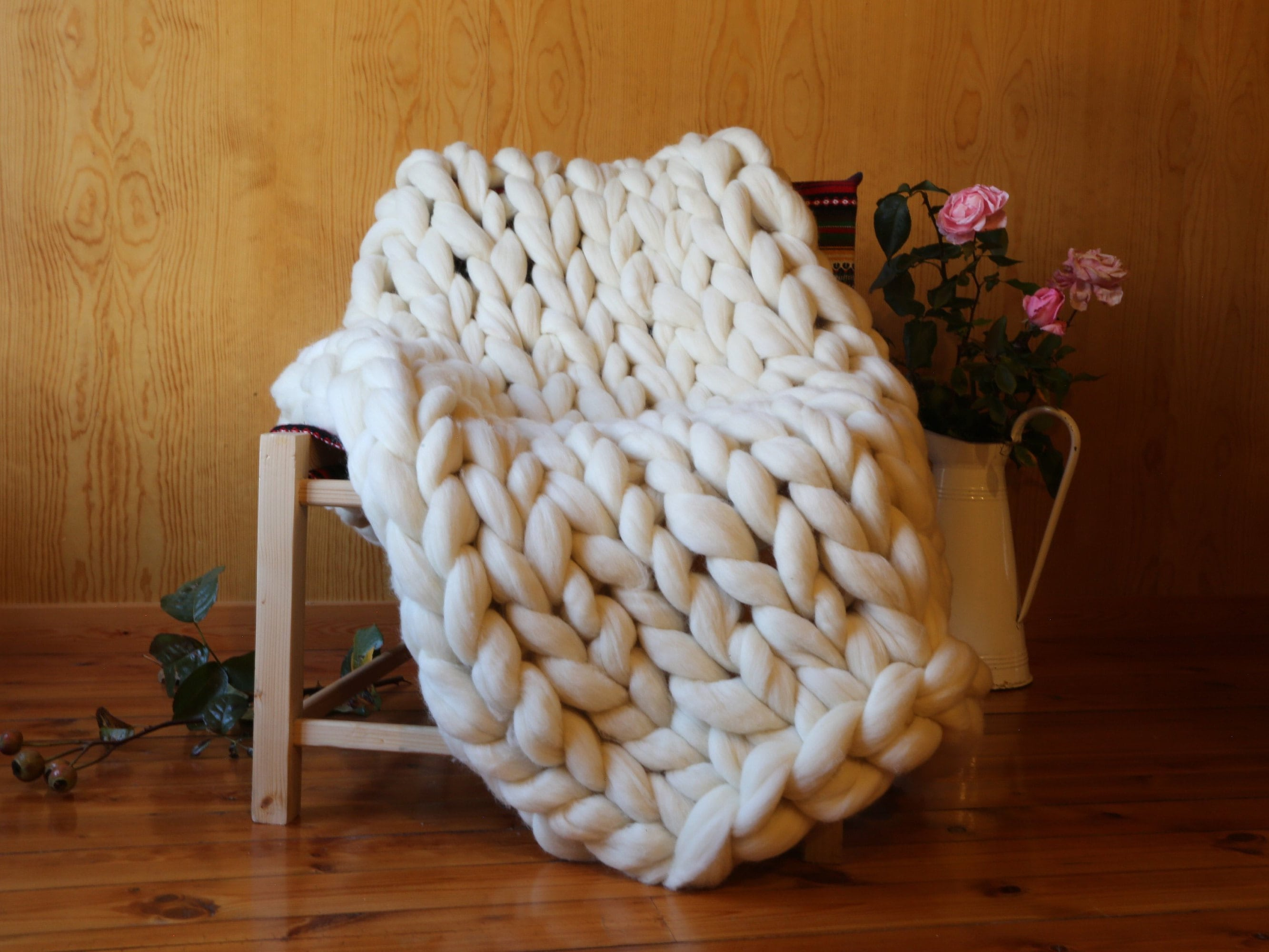 6d44a6d6a127f7 Premium chunky knit blanket -special deco blanket - inspiring deco - XXL  blanket -Super Deco Ideas-Cozy deco home -Special gift for dad