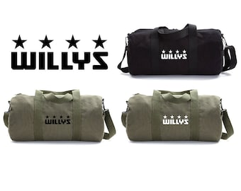 Duffle Bag For Men Two Tone Brown 19 Canvas Duffle Sport   Etsy 3372384d38