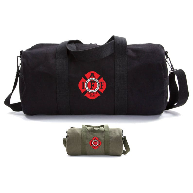 IAFF Firefighters Duffle Bag Canvas Bag Camping Gift Gym