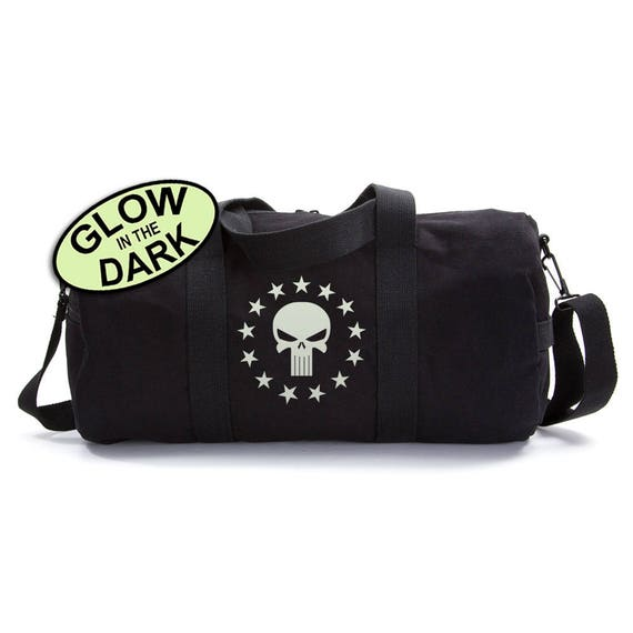 Circle of Stars Punisher Duffle Bag, Canvas Duffle Bag, Military Gifts, Canvas  Bag 153b8a191c