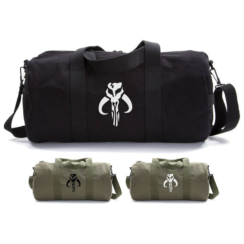 d0f65f0bf Mandalorian Skull Canvas Duffle Bag Camping Gift for Him | Etsy