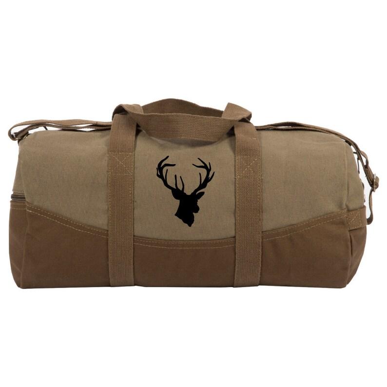 5b7e0303ef Duffle Bag For Men Two Tone Brown 19 Canvas Duffle Sport | Etsy