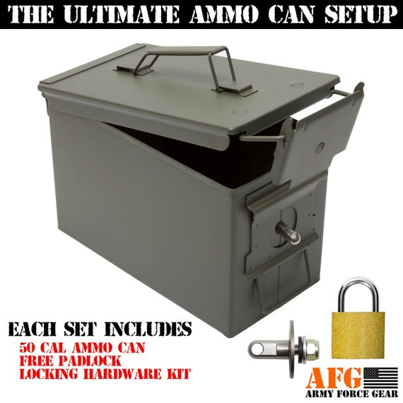 Ammo Box Locking Hardware Kit Turns Your Ammo Can To A Secure Etsy