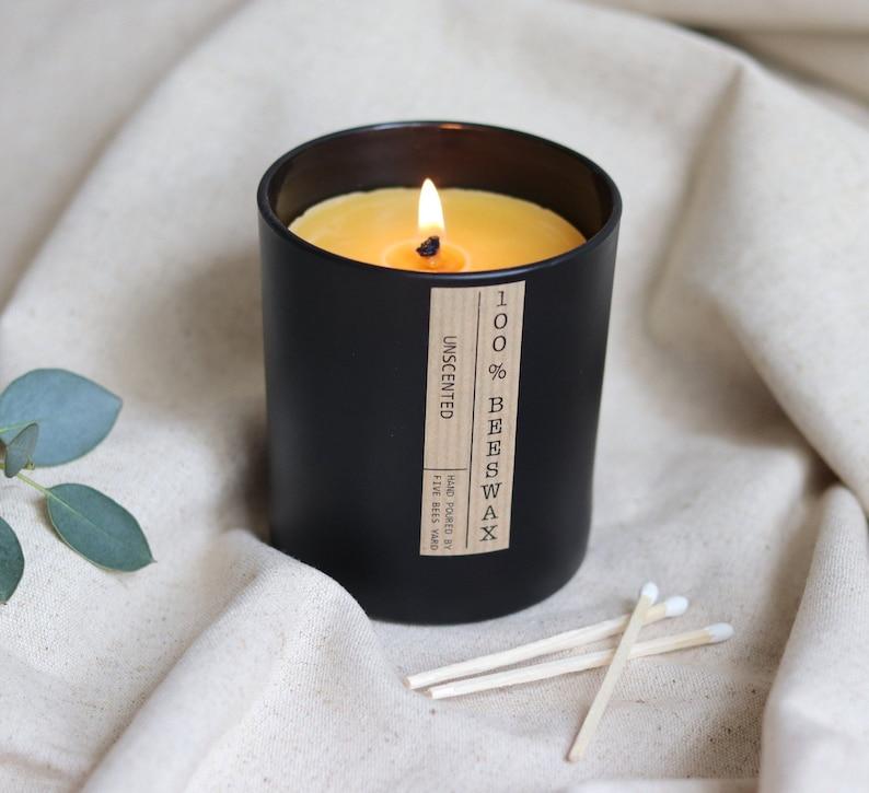 Beeswax candleCandle in JarOrganic candlesMeditationMan image 1