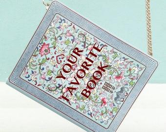 Book clutch purse