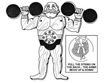 Strong Man Jumpin' Jack #901 - Woodworking / Craft Pattern