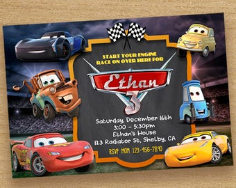 Cars birthday invite disney cars invitation chalkboard disney cars 3 invitacin coches 3 invitacin de cumpleaos disney cars 3 pizarra fiesta coches invitar invitacin digital coches 3 disney invitan a solutioingenieria Image collections