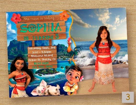 Invitar A Moana Moana Cumpleaños Invitación Fiesta Moana Imagen Tarjeta Fiesta Invitan A Moana Disney Invitación Princesa Moana Moana Foto Tarjeta