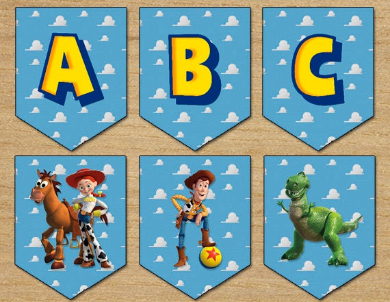 Toy Story Banner Party Digital Printable