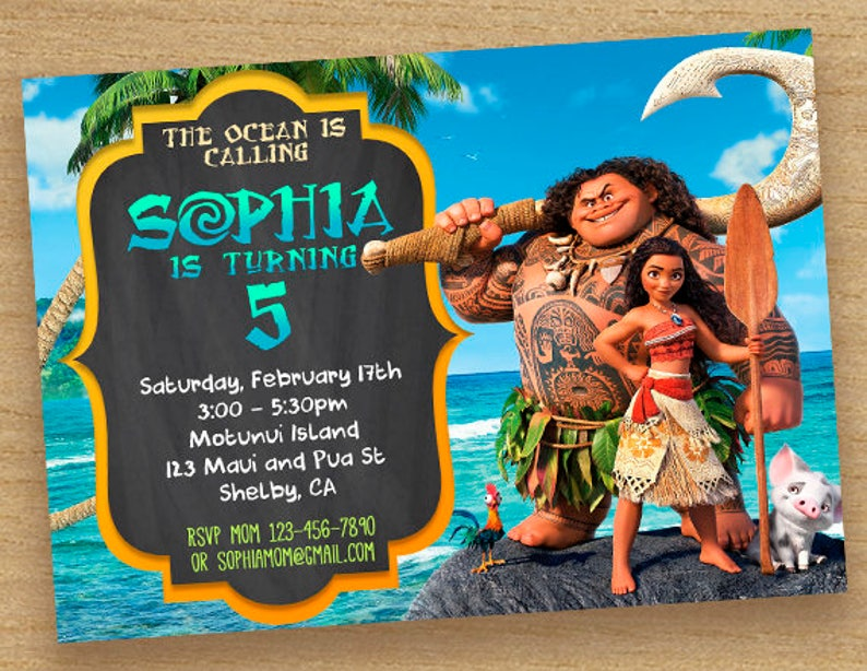photograph relating to Moana Printable Invitations named Moana Invite, Moana Birthday Celebration Invitation, Moana Printable Maui Card, Disney Moana Invitation, Moana Birthday Customized Birthday