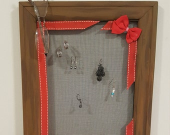 Framed Earring Organizer - Picture Frame/Screen, decorative