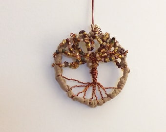 Miniature Tree of Life ornament/ wall hanging