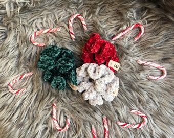 Velvet Scrunchies: The Candy Cane Collection