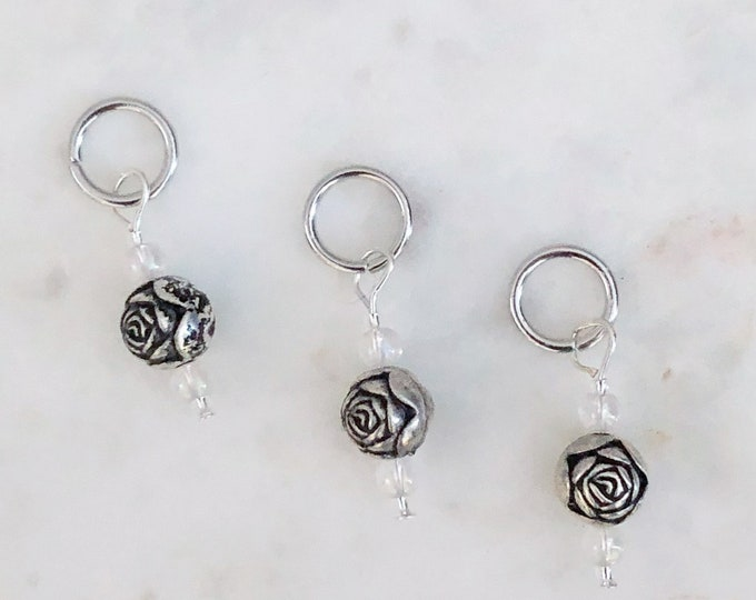 Rose Stitch Markers