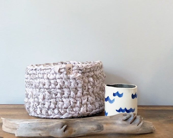 Medium Crochet Basket