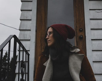Lou Slouch Beanie, Slouchy Knit Hat, Beanie, Hat, Knit Hat