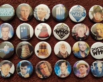 Dr. Who Buttons X 24. Stifte. Großhandel. Sammler. Schnäppchen: 0)