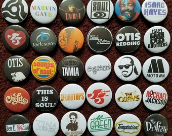 Tamla Motown & Seele Buttons 30. Stifte. Großhandel. Sammler. Schnäppchen: 0)