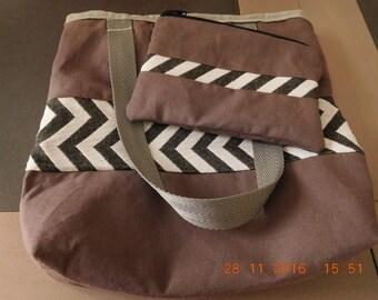 sac cabas gris
