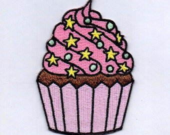 Cupcake Iron On Patches