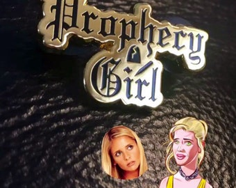 Prophecy Girl Enamel Pin, Buffy the Vampire Slayer Inspired, BTVS Girl Power Superhero, Buffy Lapel Pin, 90s tv Hero Hat Pin