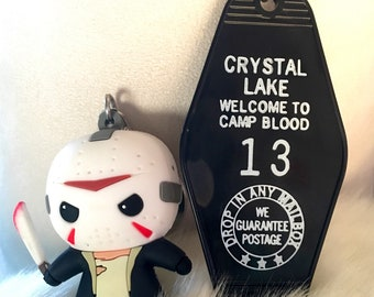 Friday the 13th motel keychain