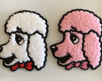 Poodle Patch in Pink or White