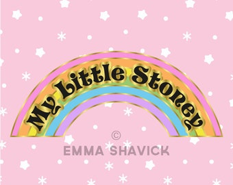 My Little Stoney Rainbow Enamel Pin