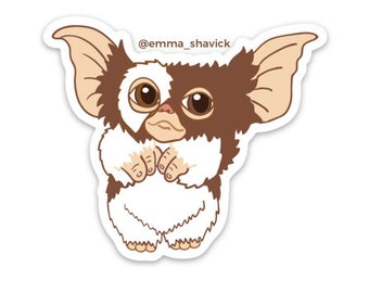 Gremlins Vinyl Sticker Pack and Gizmo Static Cling, Bundle or Buy 1- Gizmo or Stripe
