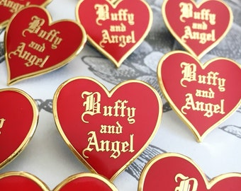 Buffy Love Pins, Angel or Spike - 2 Colors