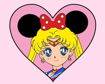 Sailor Minnie Sticker, Single Sticker or Sticker Pack