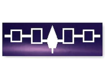 Iroquois Wampum Belt Decal